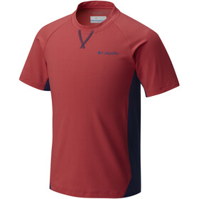Columbia Silver Ridge Short Sleeved Tee Boys sunset red/carbon